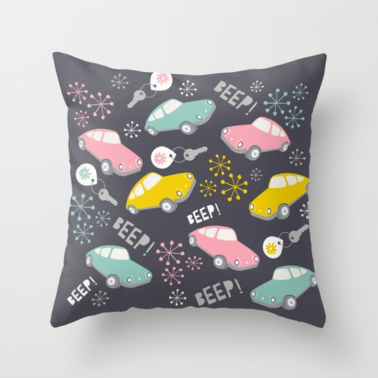 Beep! Beep! Throw Pillow