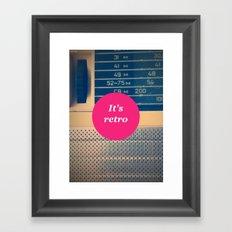 It's retro! Framed Art Print