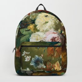"Jan van-Huysum ""Flowers in a Vase with Crown Imperial and Apple Blossom"" Backpack"