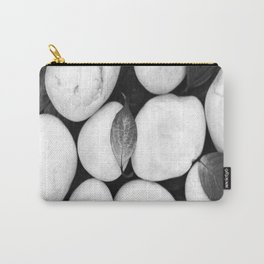 Zen White Stones On A Black Background #decor #society6 #buyart Carry-All Pouch