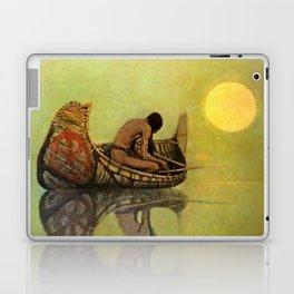 """N C Wyeth Vintage Western Painting """"Fishing Line"""" Laptop & iPad Skin"""