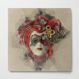 Venetian Mask 1 Metal Print