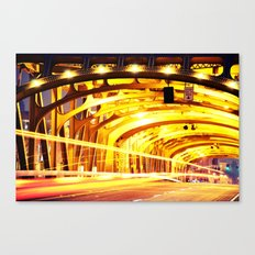 Through The Golden Bridge, Color Canvas Print