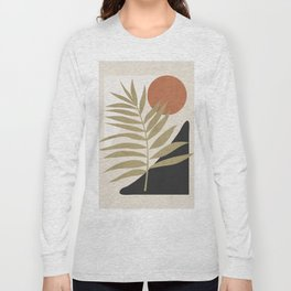 Tropical Leaf- Abstract Art 9 Long Sleeve T-shirt