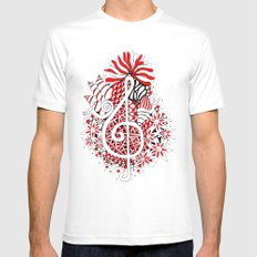 Music Key Cluster Mens Fitted Tee White MEDIUM
