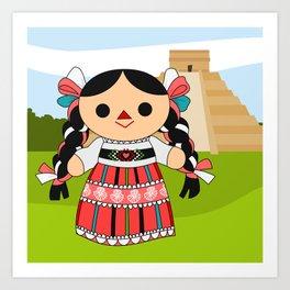 Maria 4 (Mexican Doll) Art Print