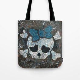 Cute Girl Skull Tote Bag