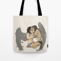sassy Tote Bags featuring sassy nudies by cyrrs