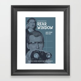 Rear Window (with Glass) Framed Art Print