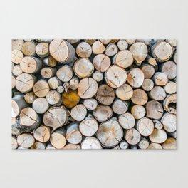 Logged Canvas Print