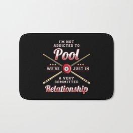 Funny Quote For Pool Billard Snooker Player Bath Mat