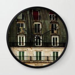 Parisian Windows. Wall Clock
