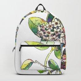 Light white-pink flower - HOYA Backpack