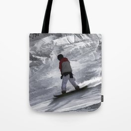 "Snowboarder ""just cruisin'"" Winter Sports Gift Tote Bag"