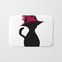 Spooky wizard cat! Bath Mat