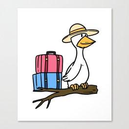 Travel Flying Holidays Gift Holidays Flight Summer Canvas Print