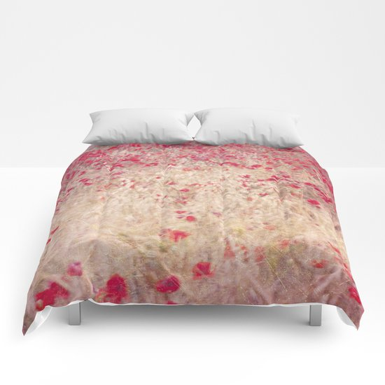 Fields of poppies Comforters