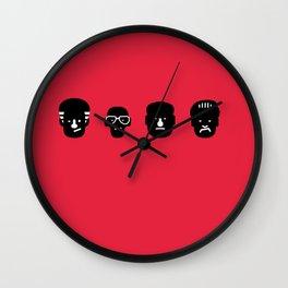 paulie, junior, tony & silvio Wall Clock