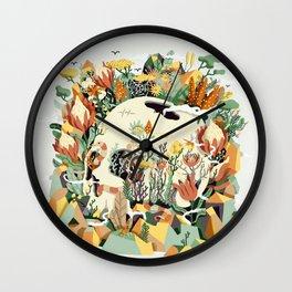 Skull & Fynbos Wall Clock