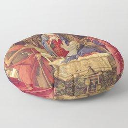 Botticelli - Madonna With Saints Floor Pillow