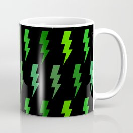 Green Lightning Bolt Electric Storm Thunder Coffee Mug