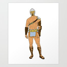 Gladiator Warrior 4 Art Print