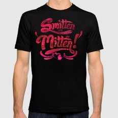 Smitten with the Mitten Black MEDIUM Mens Fitted Tee