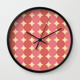 Red and pink lanterns Wall Clock