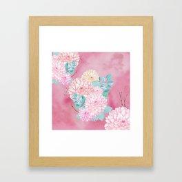 Dahlia Bush #society6 Framed Art Print