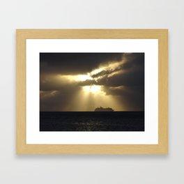 Sunset in Grand Cayman Framed Art Print