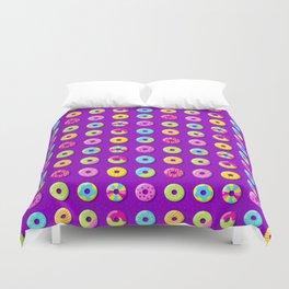 Donut Pattern Duvet Cover