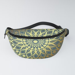 Blue Golden Mandala Fanny Pack