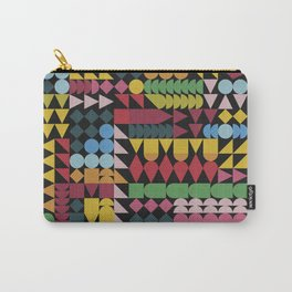 Colorful Geometric Abstraction Carry-All Pouch