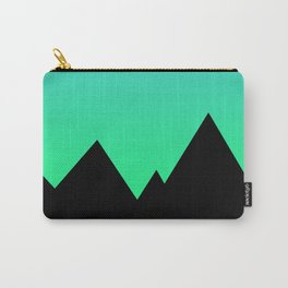 Mountains at Sunset (Blue & Green) Carry-All Pouch