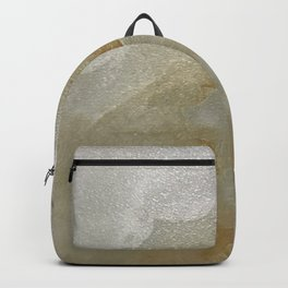 Soft Gold and Creamy Marble Pattern Backpack