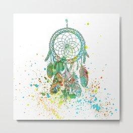 Dreamcatcher splatter Metal Print