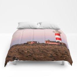 Lighthouse in Fuerteventura at sunset Comforters