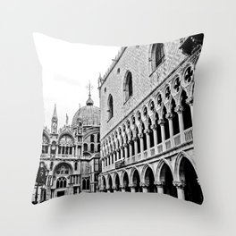 St. Mark's Square BW Throw Pillow