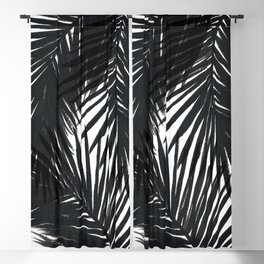 Palms Black Blackout Curtain