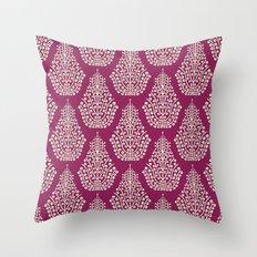 SPIRIT purple cream Throw Pillow