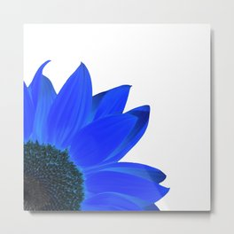 darkblue summer square Metal Print