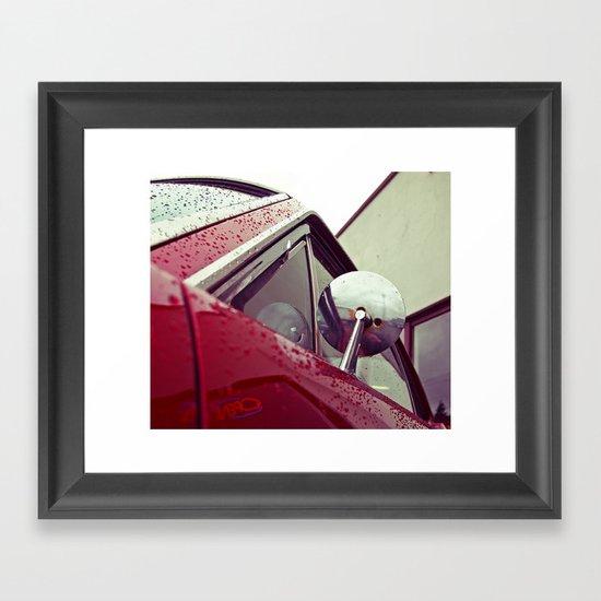 Mustang mirror Framed Art Print