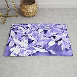 Cascading orchids - Violet Rug