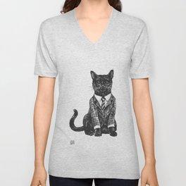 Fancy Cat Unisex V-Neck