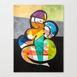 LA MODELO Y SU SOMBRA Canvas Print