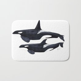 Orca male and female Bath Mat