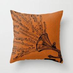 Facing the Music Throw Pillow