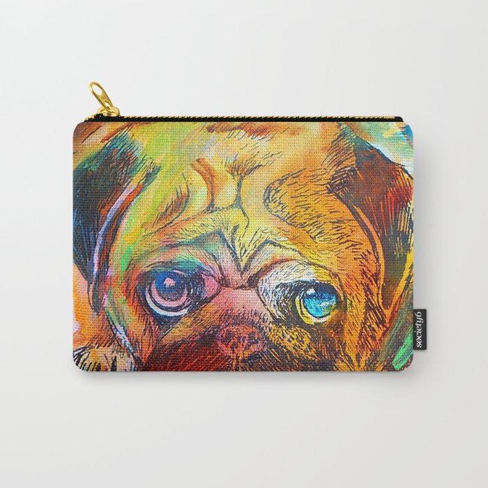 Pop Art Pug Carry-All Pouch