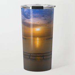 Sunrise Over Bridges Travel Mug
