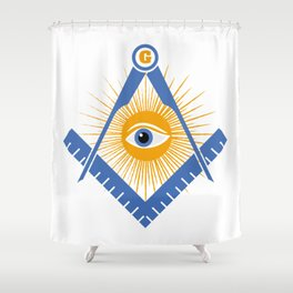 Freemasonry symbol Shower Curtain